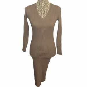 Dreamers Ribbed Bodycon Dress Size Medium/Large